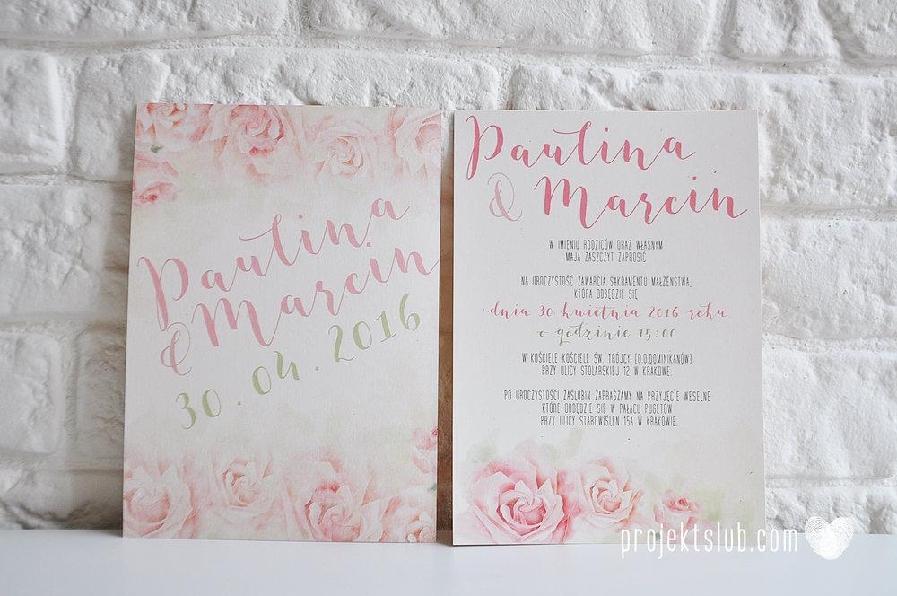 Zaproszenia Ślubne Boho Rustic Eko Oryginalne Wyjątkowe Rustykalne Akwarelowe Róże Pudrowe Kwiaty Projekt Ślub (2).jpg