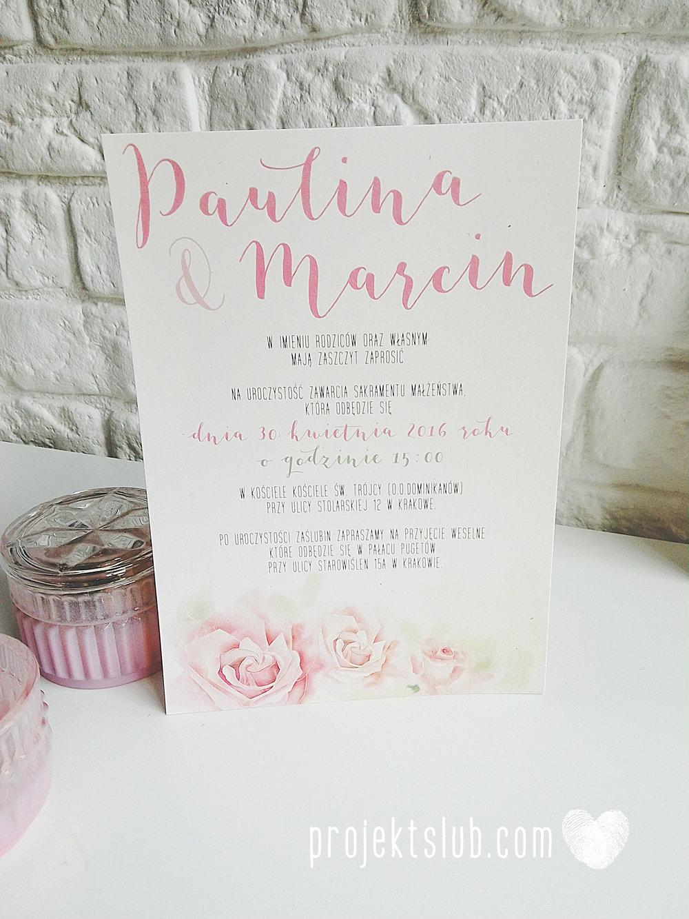 Zaproszenia Ślubne Boho Rustic Eko Oryginalne Wyjątkowe Rustykalne Akwarelowe Róże Pudrowe Kwiaty Projekt Ślub (4).jpg