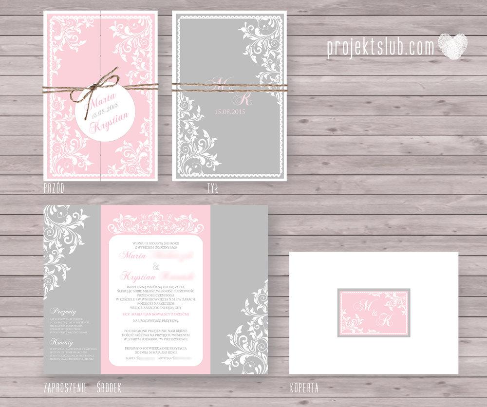 Zaproszenia ślubne rustykalne oryginalne wyjątkowe rustic eleganckie szary róż-ornamenty Projekt Ślub (12).jpg