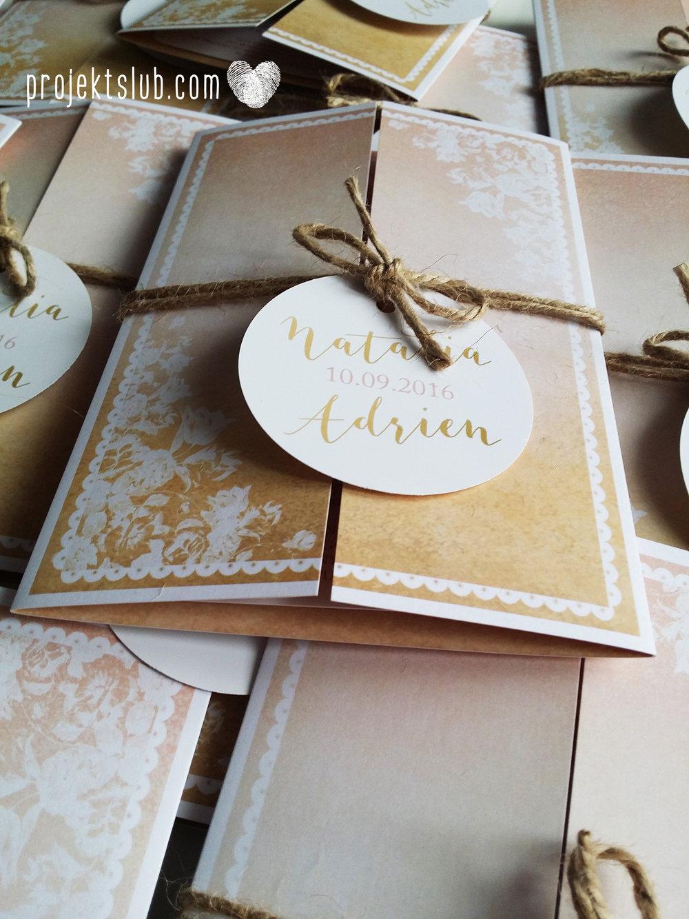 Zaproszenia ślubne rustykalne oryginalne wyjątkowe rustic eleganckie złoty róż ornamenty Projekt Ślub (38).jpg