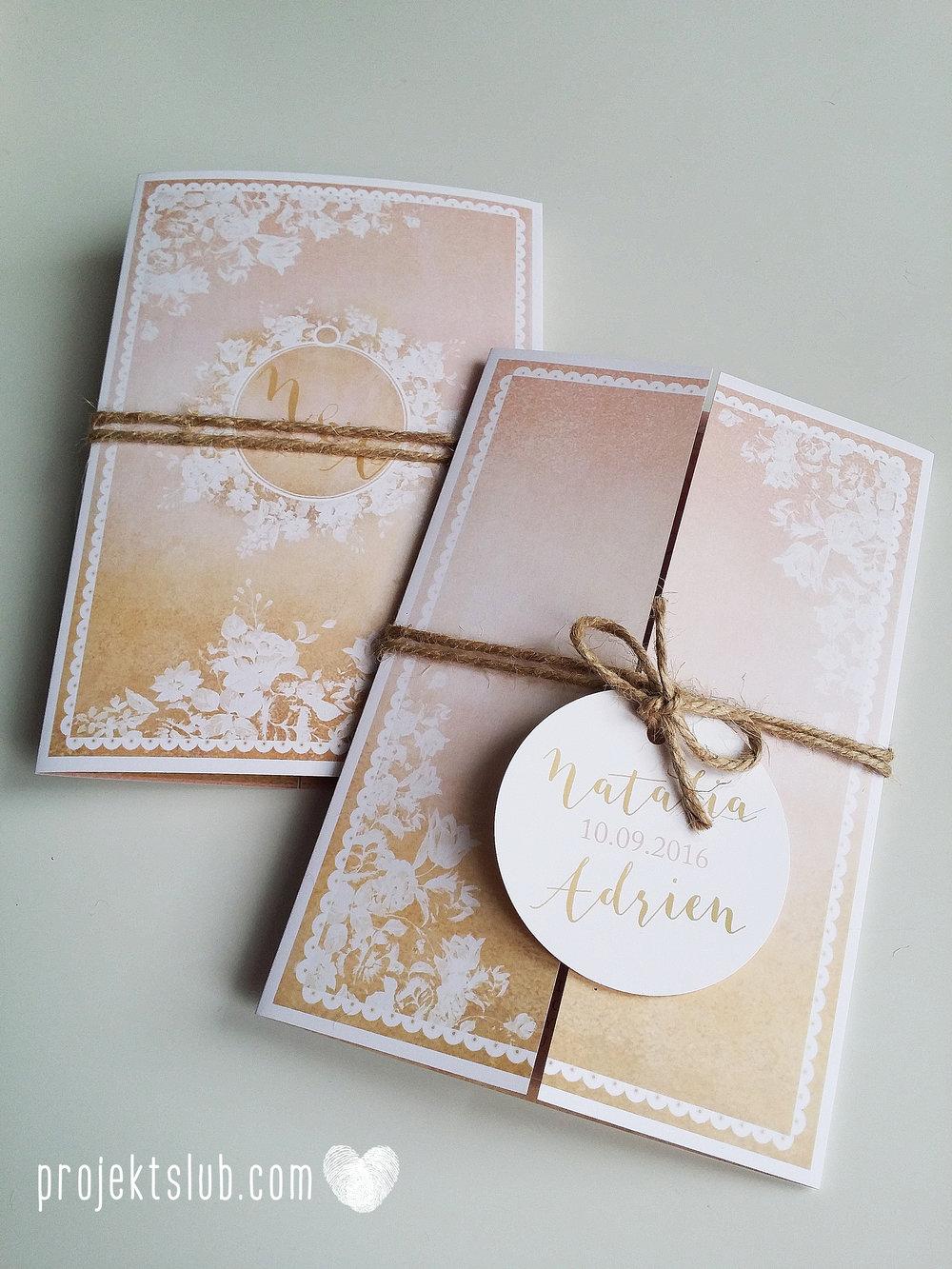 Zaproszenia ślubne rustykalne oryginalne wyjątkowe rustic eleganckie złoty róż ornamenty Projekt Ślub (39).jpg