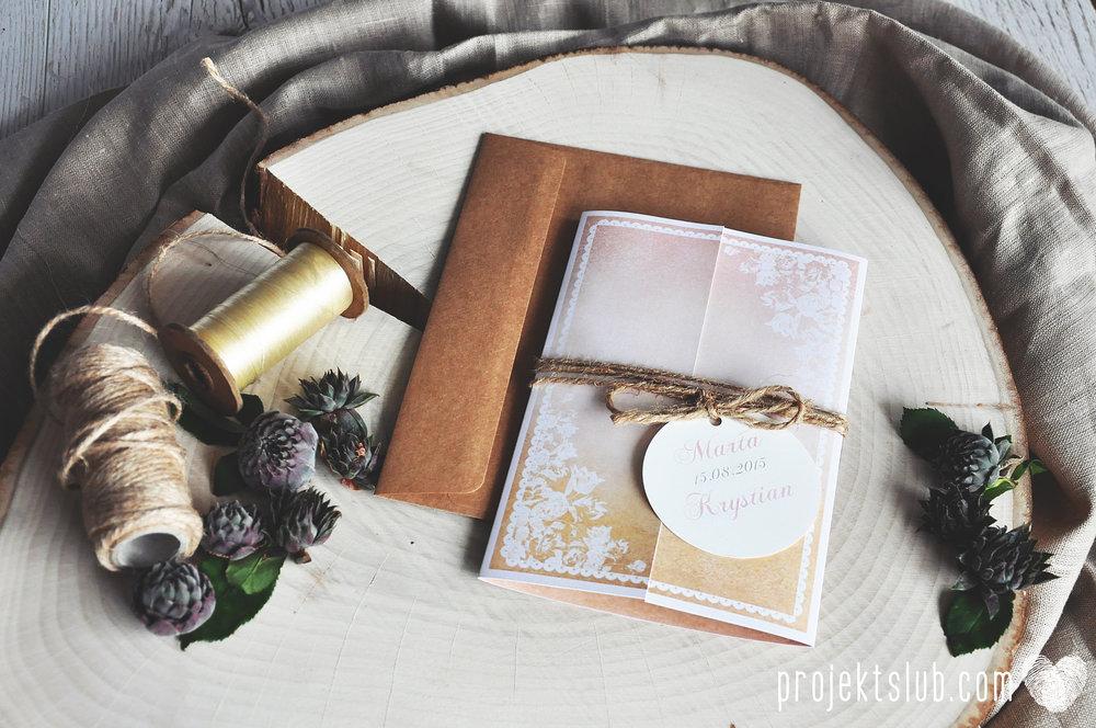 Zaproszenia ślubne rustykalne oryginalne wyjątkowe rustic eleganckie złoty róż ornamenty Projekt Ślub (1).jpg
