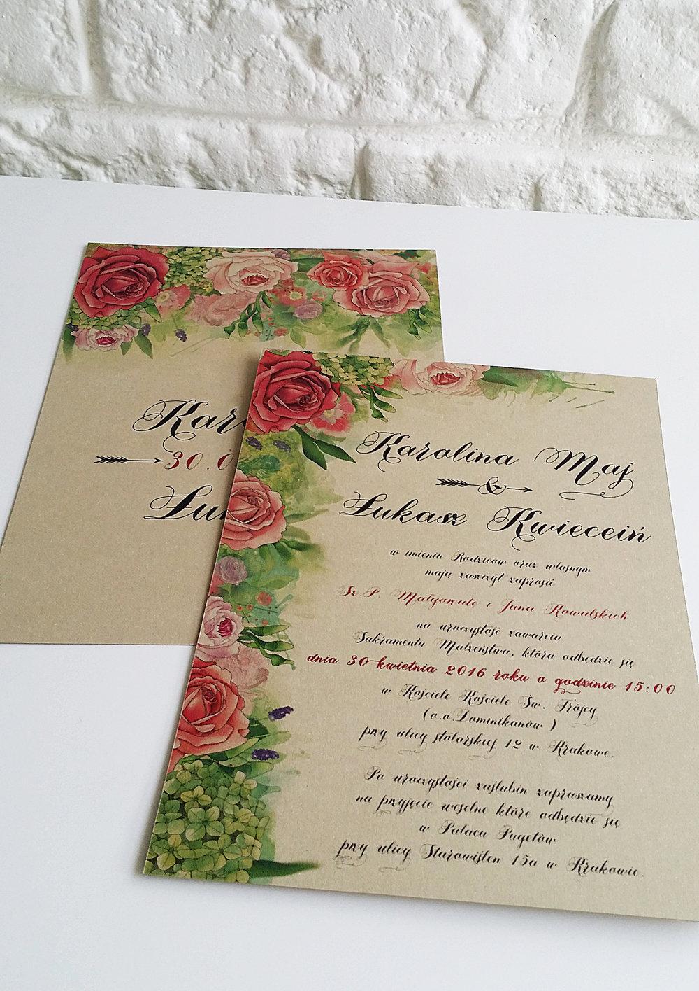 Zaproszenie ślubne BOHO PIÓRA rustykalne wesele złoto brąz bohema indiańskie pióra Projekt Ślub (3).jpg