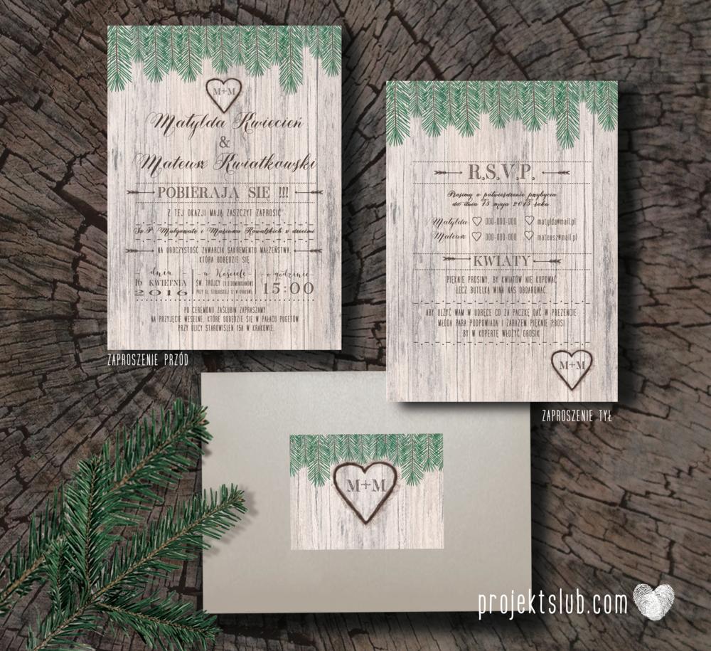 Zaproszenia ślubne oryginalne BOHO WOODLOVE vintage las świerk drewno drzewo kora eko rustykalne oryginalny craft naturalne Projekt Ślub (1).png