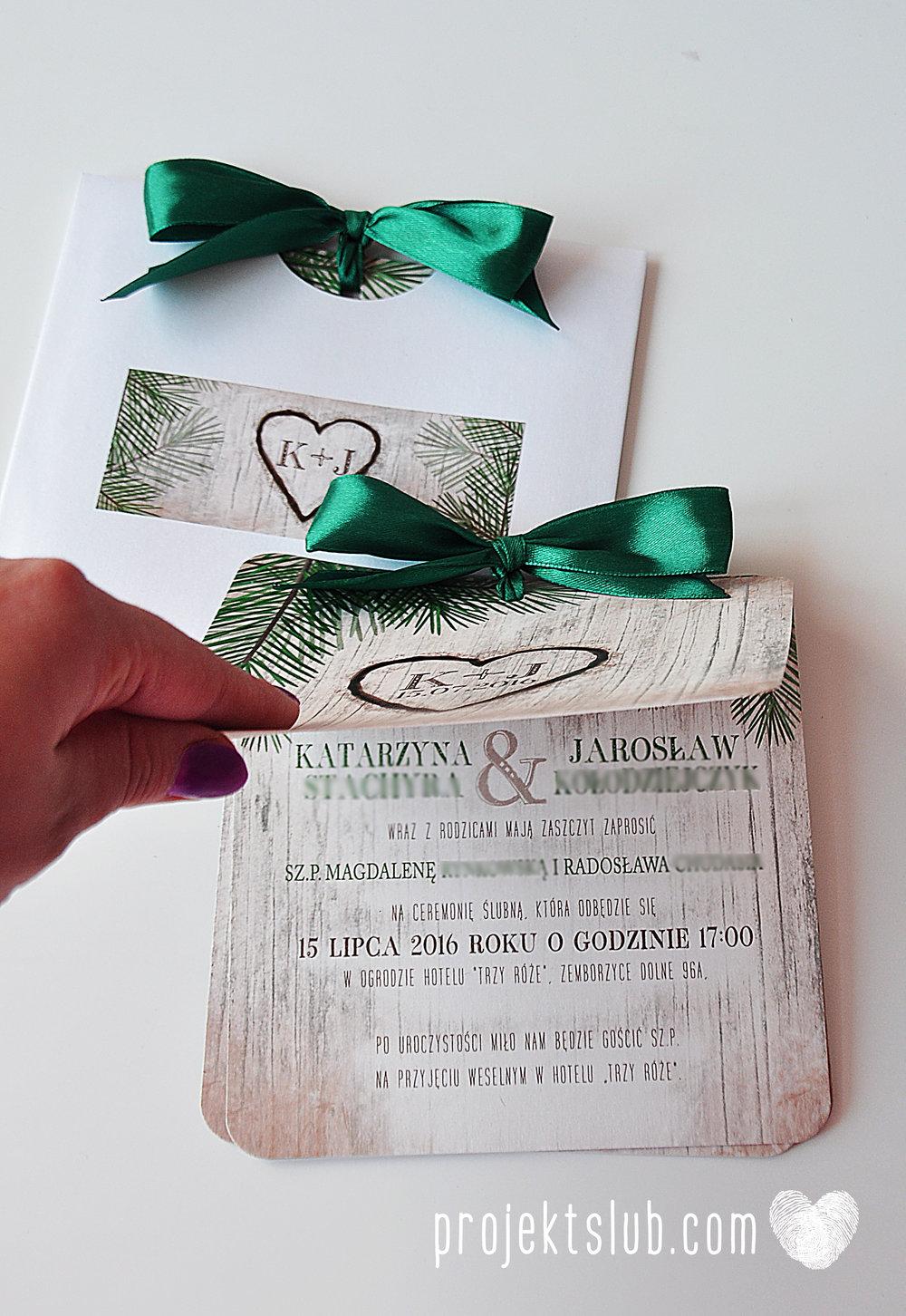 Zaproszenia ślubne oryginalne BOHO WOODLOVE vintage las świerk drewno drzewo kora eko rustykalne oryginalny craft naturalne Projekt Ślub (25).jpg