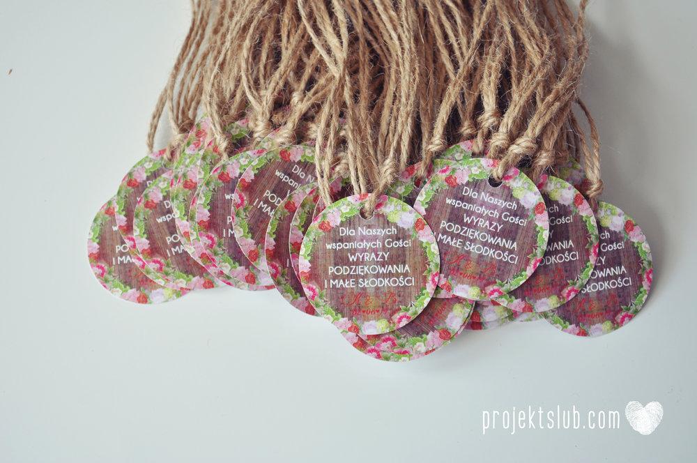 Zaproszenia Ślubne Boho Rustic Eko Oryginalne Wyjątkowe Rustykalne Sznurek Drewno Kwiaty Czerwony Garbus Projekt Ślub (13).jpg