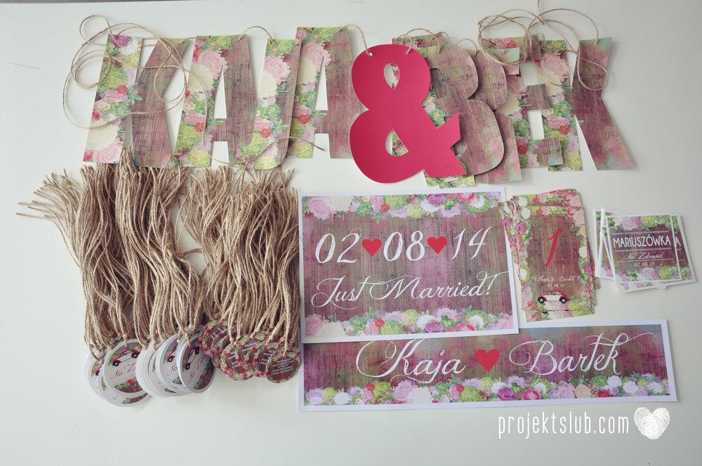 Zaproszenia Ślubne Boho Rustic Eko Oryginalne Wyjątkowe Rustykalne Sznurek Drewno Kwiaty Czerwony Garbus Projekt Ślub (11).jpg