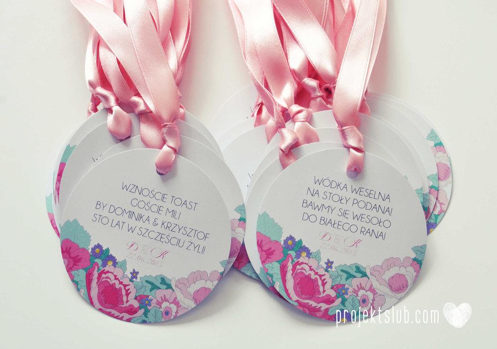 Zaproszenia  ślubne pasteove kwiaty ze wstążką wyjątkowe oryginalne najpiękniejsza papeteria ślubna pudrowy róż mięta Projekt Ślub (20).jpg