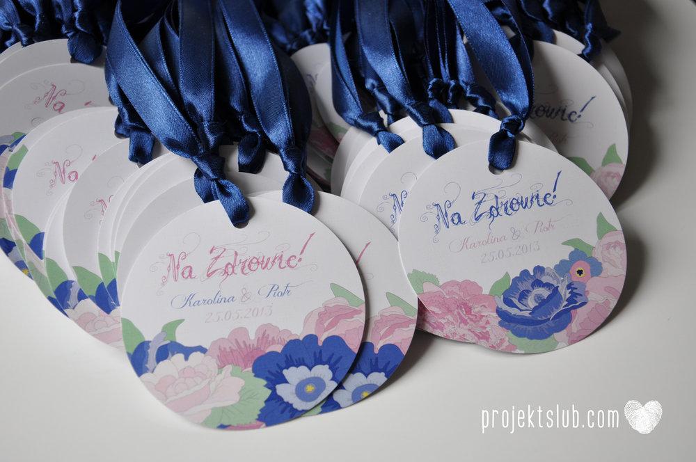 Papeteria ślubna kwiaty pastele ze wstążką wyjątkowe oryginalne najpiękniejsze zaproszenia ślubne pastele róż granat Projekt Ślub (7).jpg