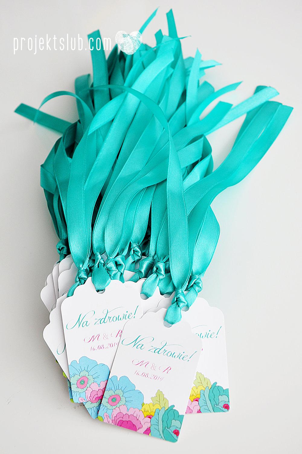 Zaproszenia  ślubne pastelove kwiaty ze wstążką wyjątkowe oryginalne najpiękniejsza papeteria ślubna tęczowe kolorowe róż mięta Projekt Ślub (18).jpg