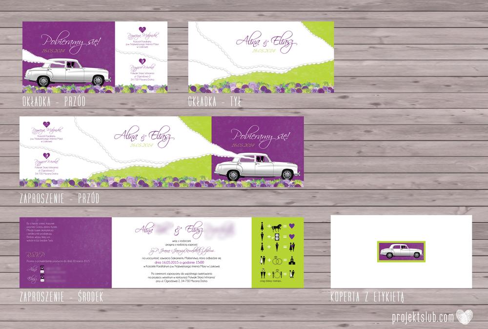 zaproszenia-ślubne-eleganckie-glamour-zaproszenia-z-motywem-auta-samochód-ślubny-mercedes-kwiaty-koronka-biel-fiolet-zieleń-projekt-ślub  (1).png