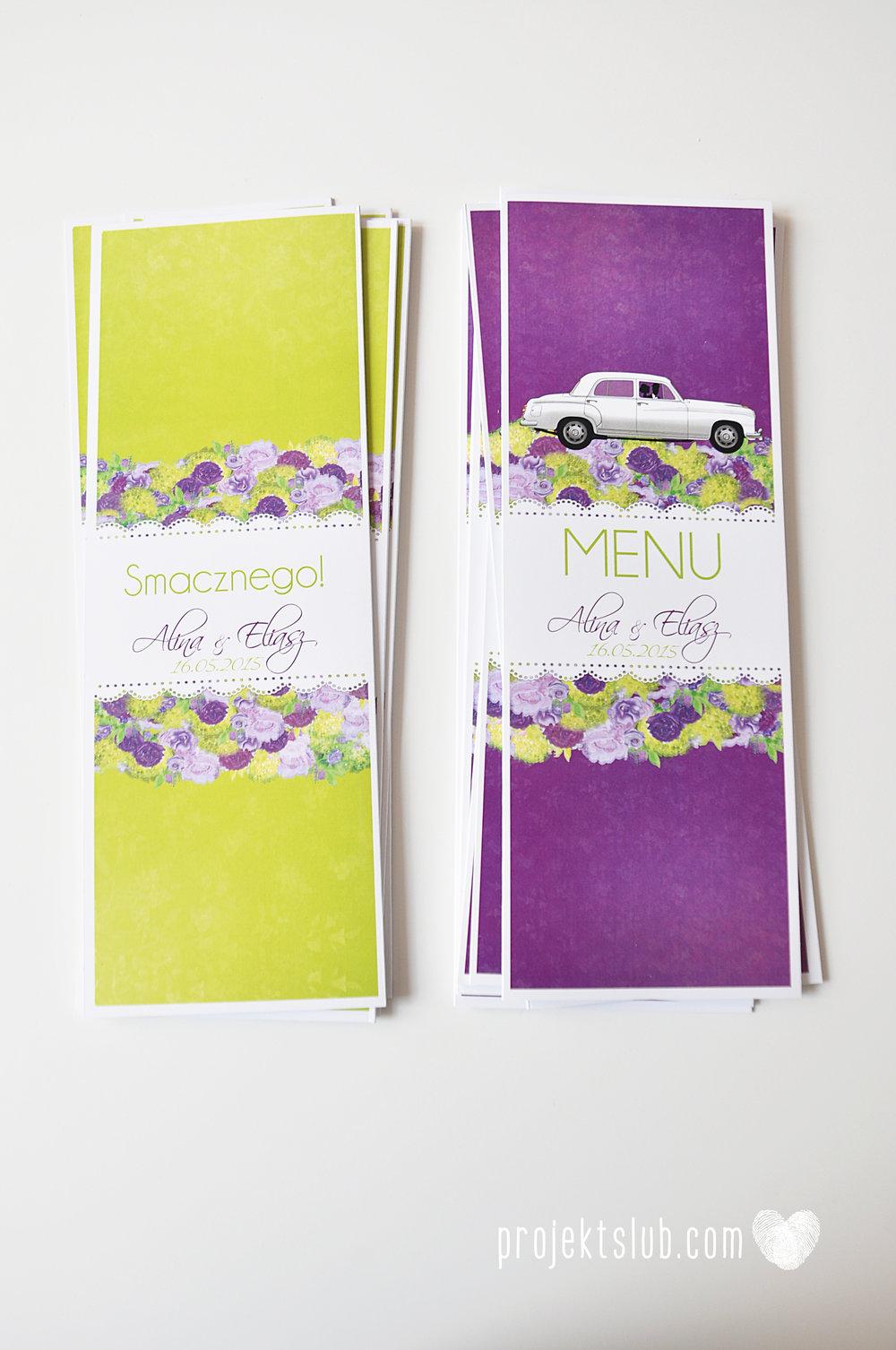 zaproszenia-ślubne-eleganckie-glamour-zaproszenia-z-motywem-auta-samochód-ślubny-mercedes-kwiaty-koronka-biel-fiolet-zieleń-projekt-ślub  (2).JPG