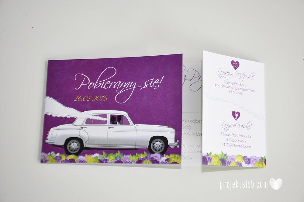 zaproszenia-ślubne-eleganckie-glamour-zaproszenia-z-motywem-auta-samochód-ślubny-mercedes-kwiaty-koronka-biel-fiolet-zieleń-projekt-ślub  (25).JPG