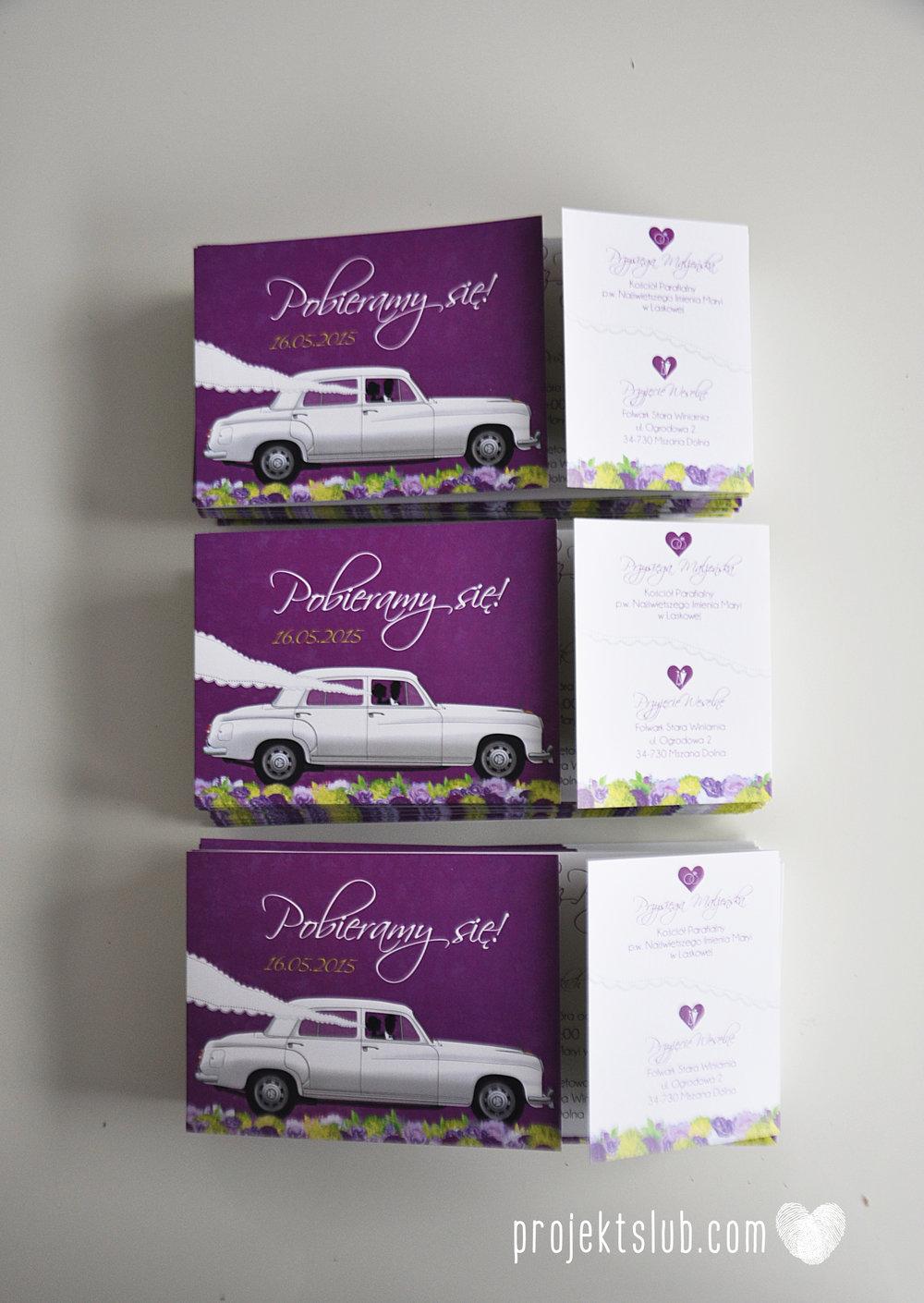 zaproszenia-ślubne-eleganckie-glamour-zaproszenia-z-motywem-auta-samochód-ślubny-mercedes-kwiaty-koronka-biel-fiolet-zieleń-projekt-ślub  (28).JPG