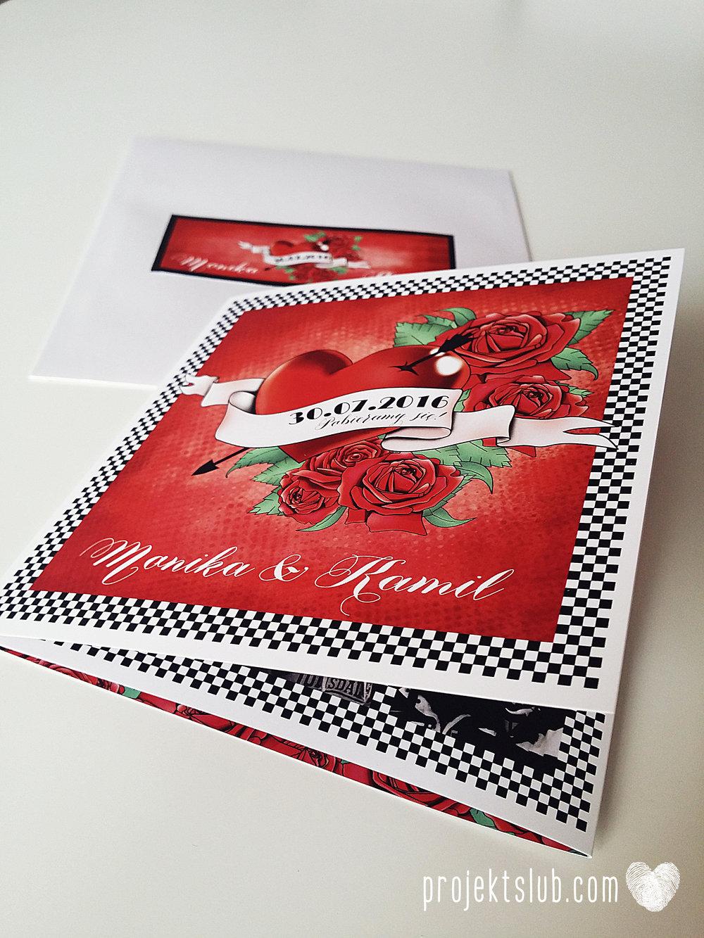 zaroszenie slubne z motywem tatuazu roza czerwony tatuaz serce muzyka ska rockabilly tattoos wedding projekt ślub  (3).jpg