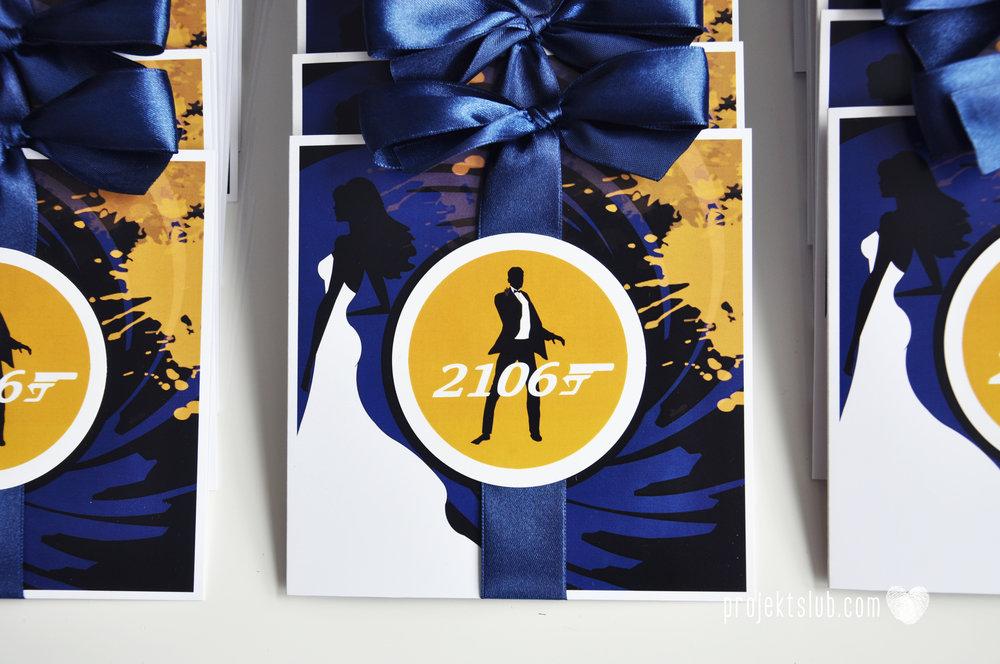eleganckie zaproszenie ślubne james bond granat żółty agent 007 filmowy  ślub projekt ślub (11).jpg