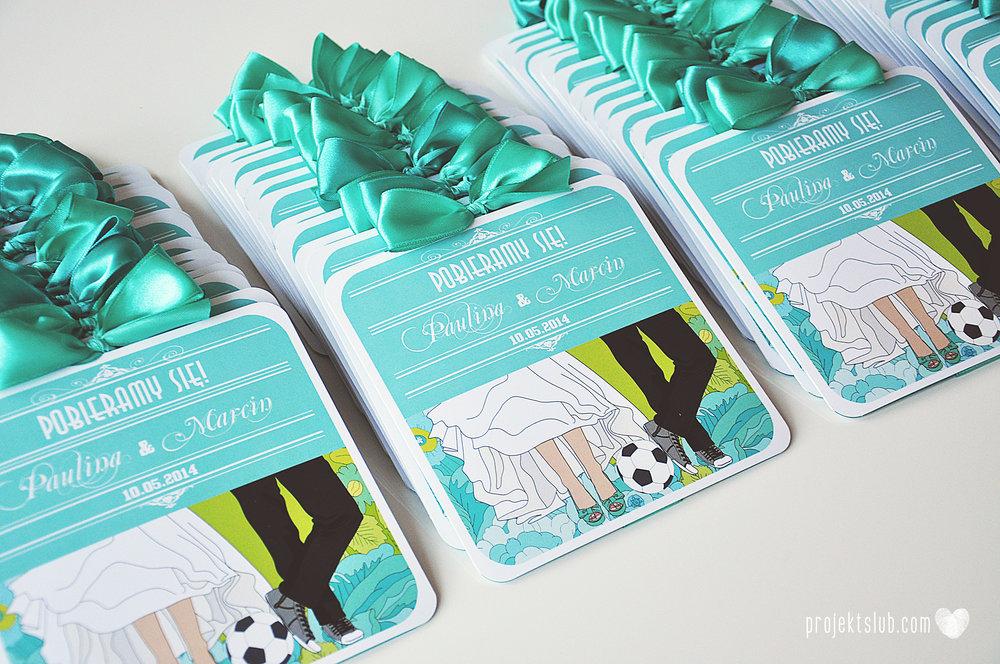 zaproszenia ślubne poczuj miętę limonka turkus para młoda grafika rysunek piłka nożna elegancka papeteria kwiaty projekt ślub (2).jpg