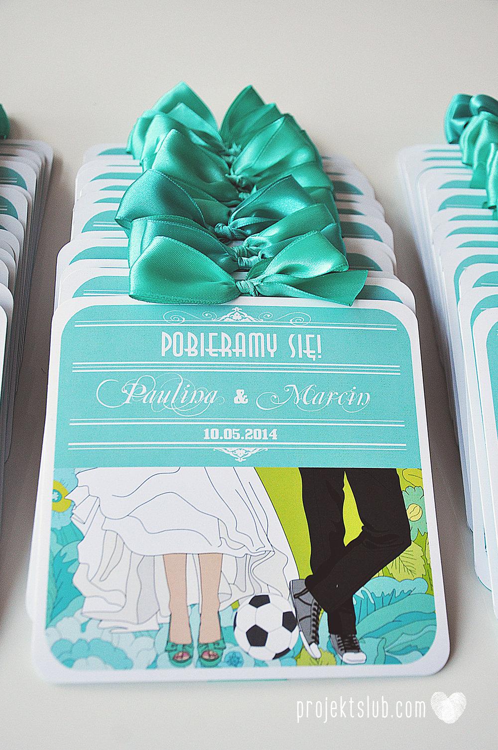 zaproszenia ślubne poczuj miętę limonka turkus para młoda grafika rysunek piłka nożna elegancka papeteria kwiaty projekt ślub (4).jpg