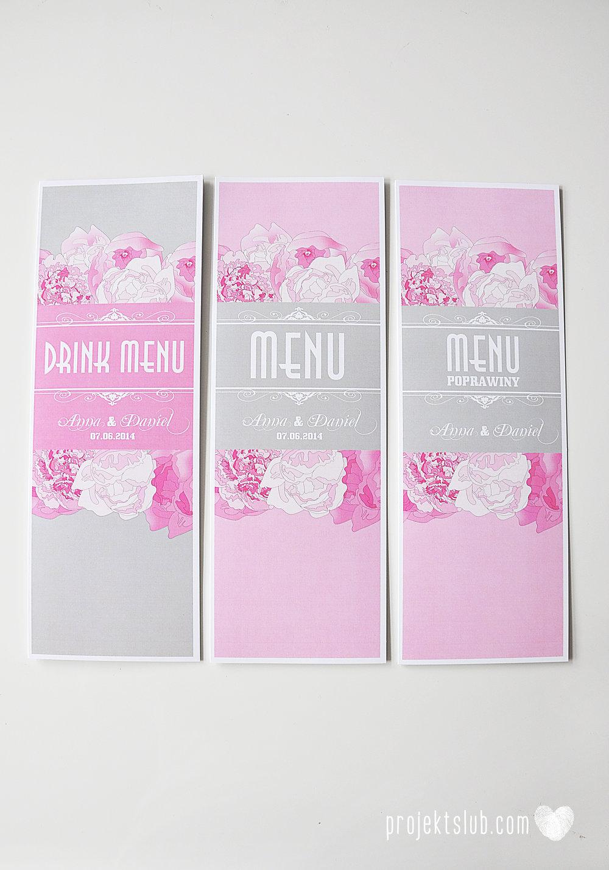Zaproszenia poczuj miętę z motywem młodej pary buty ślubne hobby grafiki zdjęcia szary róż dodatki weselne zawieszki menu papetria projekt ślub (25).jpg