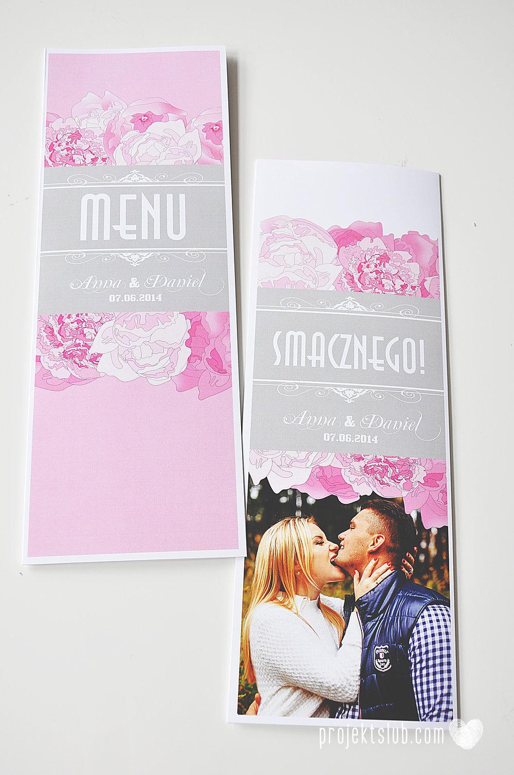Zaproszenia poczuj miętę z motywem młodej pary buty ślubne hobby grafiki zdjęcia szary róż dodatki weselne zawieszki menu papetria projekt ślub (27).jpg