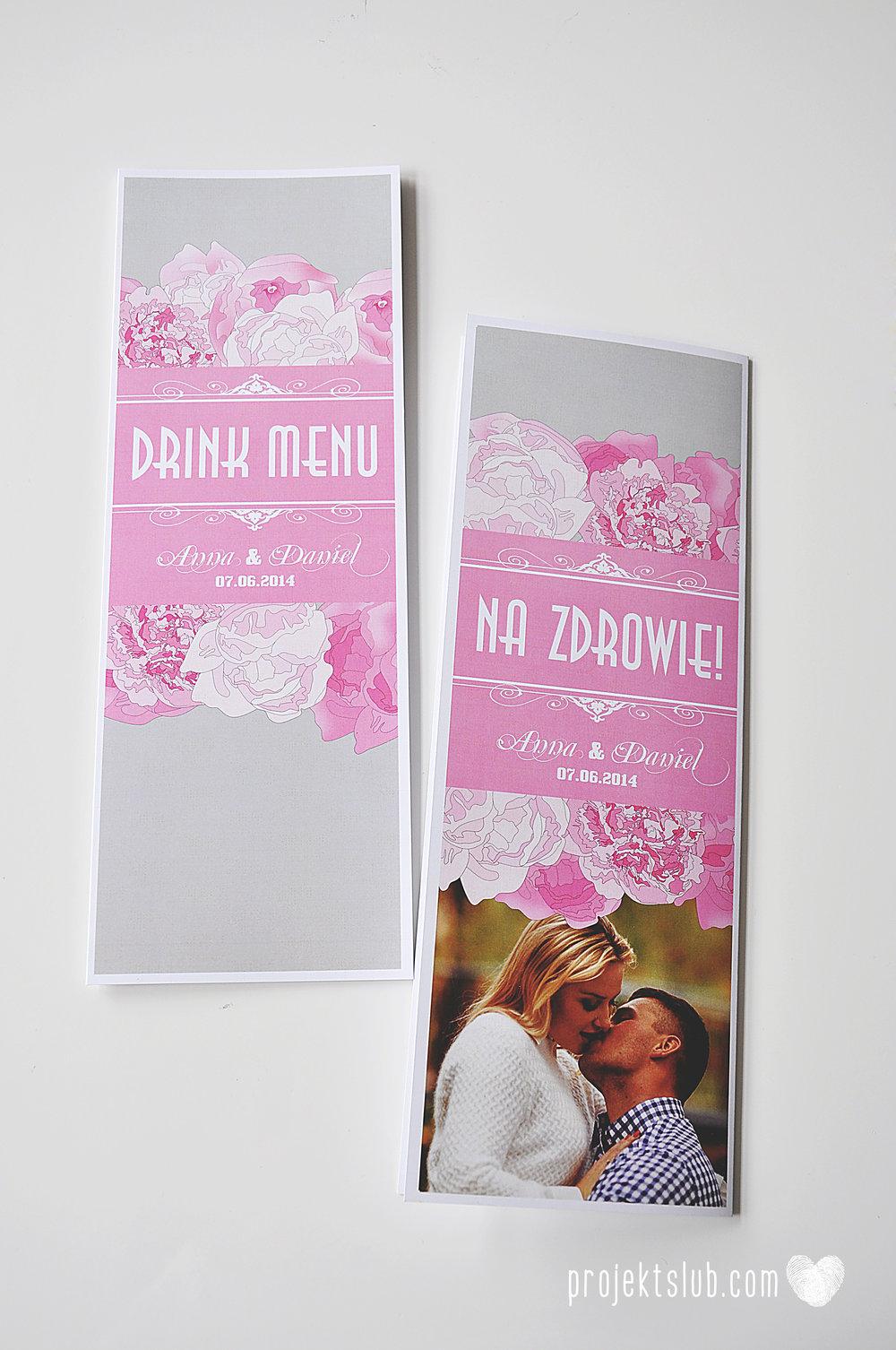 Zaproszenia poczuj miętę z motywem młodej pary buty ślubne hobby grafiki zdjęcia szary róż dodatki weselne zawieszki menu papetria projekt ślub (28).jpg