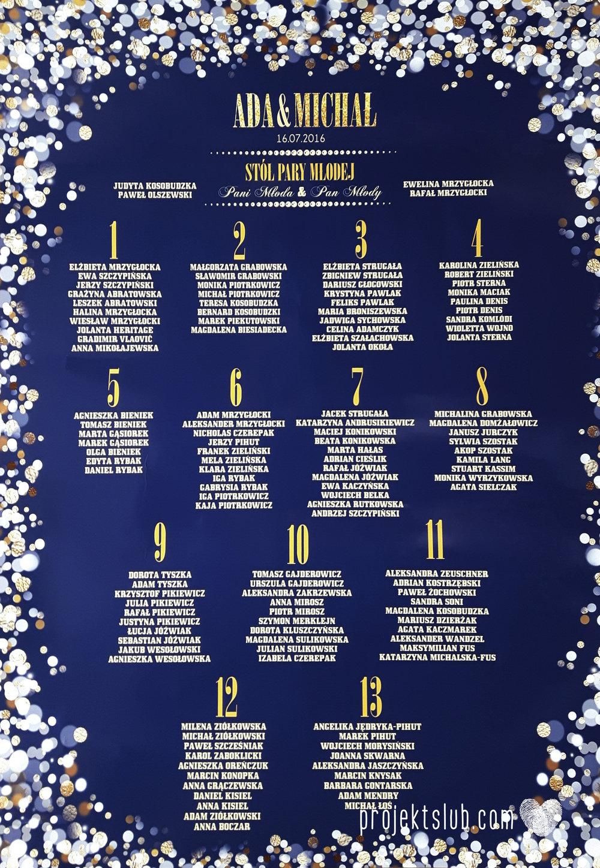 Zaproszenia na ślub i chrzciny projekt indywidualny granatowe elegancka papeteria harmonijka konfetti glamour Projekt Ślub (5).jpg