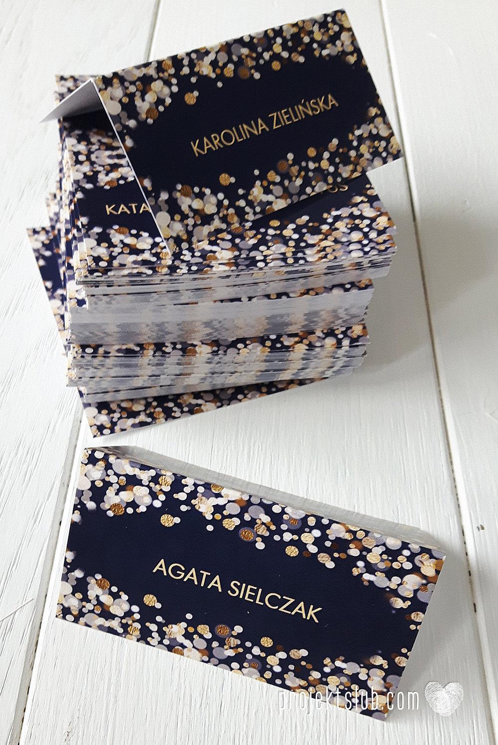 Zaproszenia na ślub i chrzciny projekt indywidualny granatowe elegancka papeteria harmonijka konfetti glamour Projekt Ślub (9).jpg
