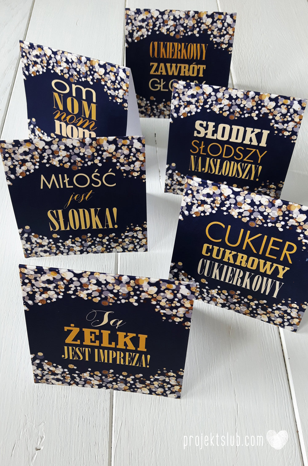 Zaproszenia na ślub i chrzciny projekt indywidualny granatowe elegancka papeteria harmonijka konfetti glamour Projekt Ślub (10).jpg