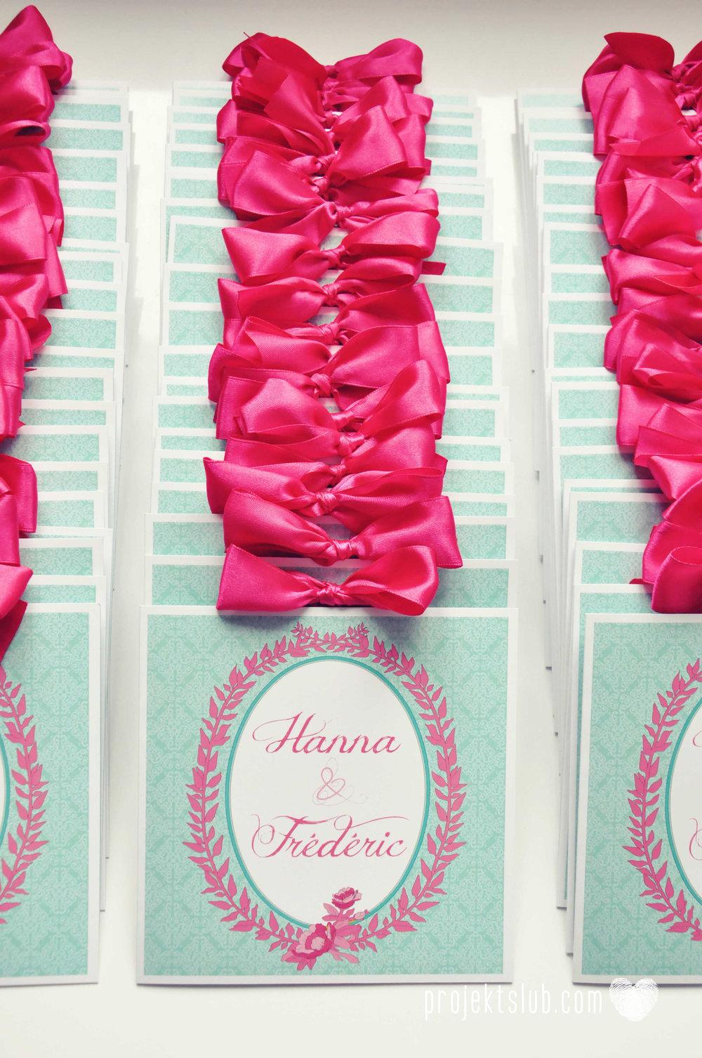 oryginalne zaproszenia ślubne najpiękniejsza papeteria miętowe love mięta malinowa wstążka elegancki projekt ślub (4).jpg