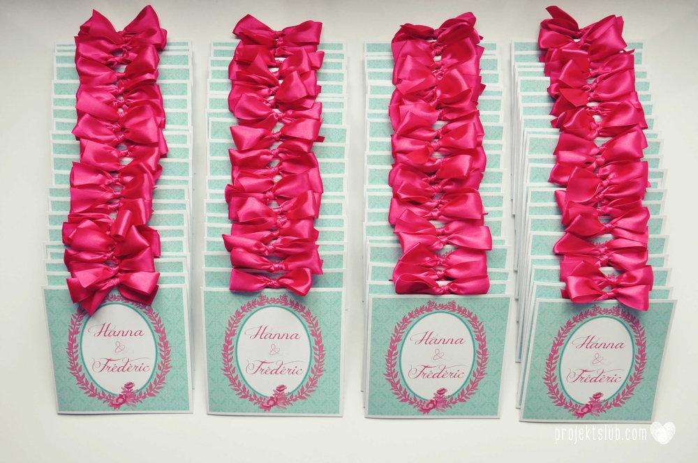 oryginalne zaproszenia ślubne najpiękniejsza papeteria miętowe love mięta malinowa wstążka elegancki projekt ślub (7).jpg