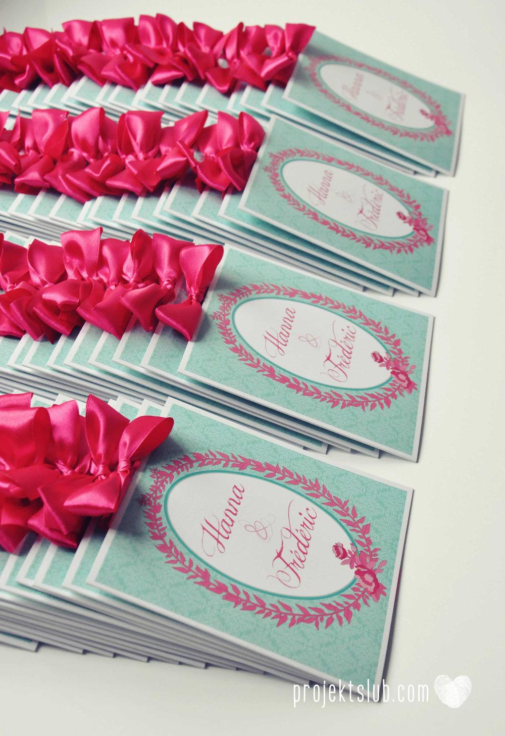 oryginalne zaproszenia ślubne najpiękniejsza papeteria miętowe love mięta malinowa wstążka elegancki projekt ślub (11).jpg