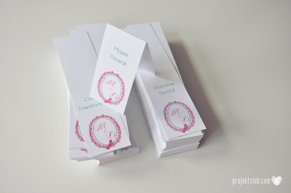 oryginalne zaproszenia ślubne najpiękniejsza papeteria miętowe love mięta malinowa wstążka elegancki projekt ślub (45).jpg