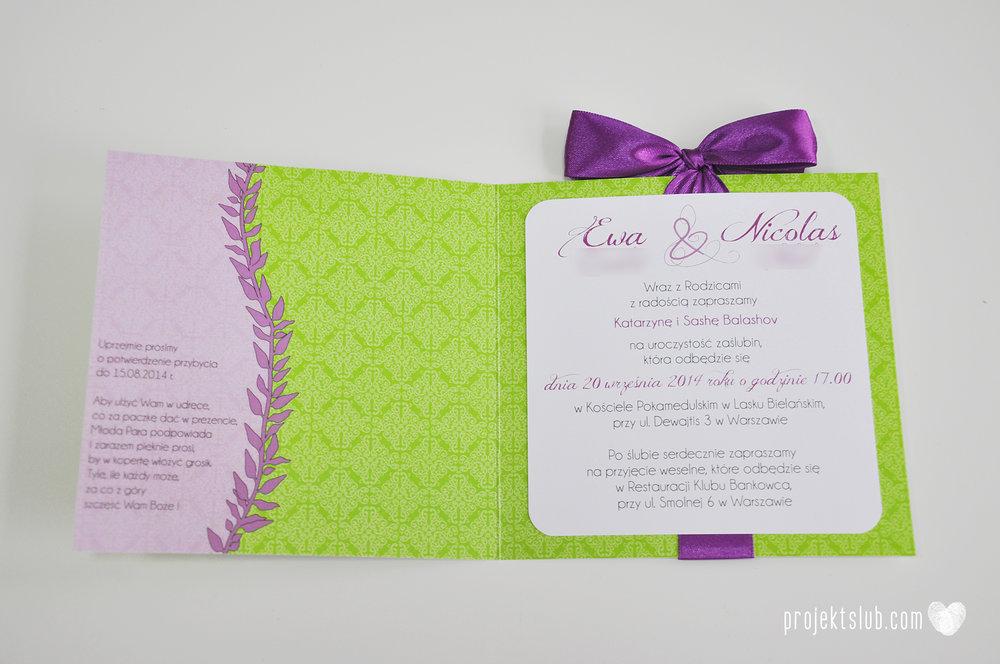 Zaproszenia ślubne wrzosowe love elegancka kolekcja zaproszeń w kolorze zieleni i fioletu Projekt Ślub (2).jpg