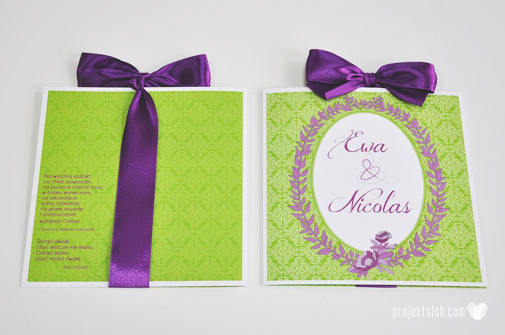 Zaproszenia ślubne wrzosowe love elegancka kolekcja zaproszeń w kolorze zieleni i fioletu Projekt Ślub (6).jpg