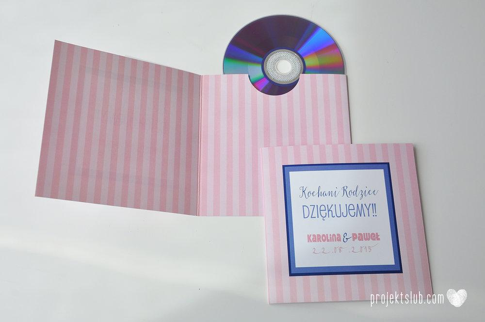 oryginalne zaproszenia ślubne w paski pastelowe retro pudrowy róż granat navy blue eleganckie dekoracje na wesele papeteria projekt ślub (18).jpg