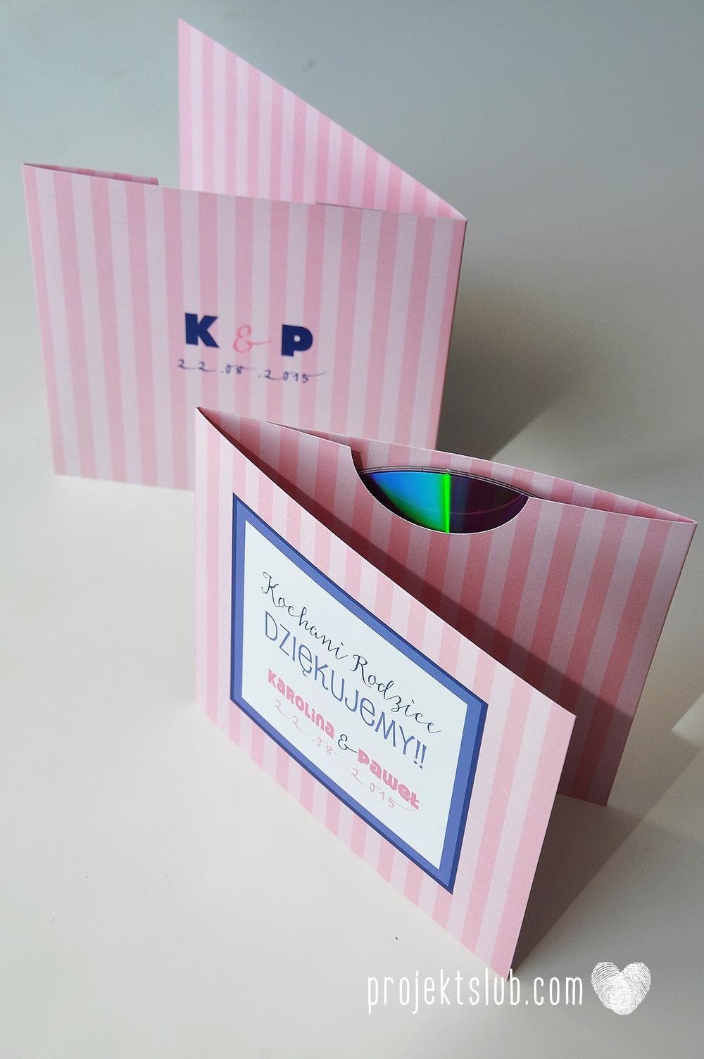 oryginalne zaproszenia ślubne w paski pastelowe retro pudrowy róż granat navy blue eleganckie dekoracje na wesele papeteria projekt ślub (21).jpg