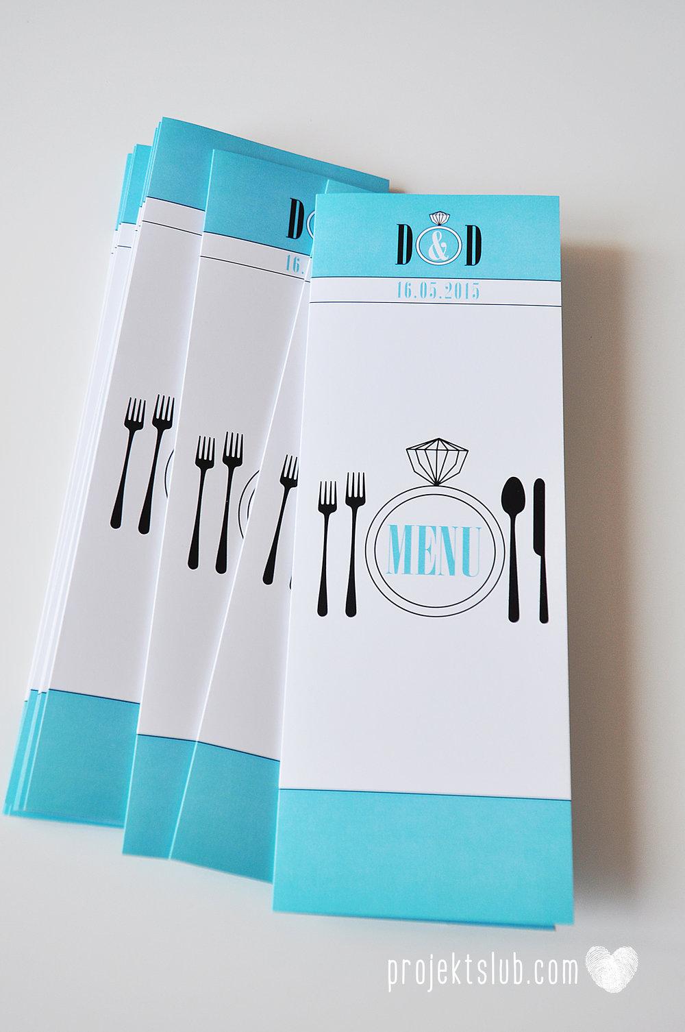 eleganckie zaproszenie ślubne śniadanie u Tiffany'ego 3 błękit biel glamour pierścionek Projekt ślub (18).jpg