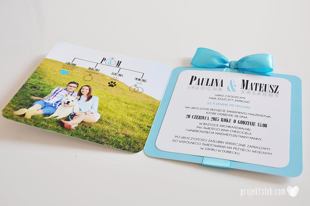 eleganckie zaproszenie ślubne śniadanie u Tiffany'ego 4 błękit biel glamour ombre cieniowane ze zdjęciem graficzne Projekt Ślub (9).jpg