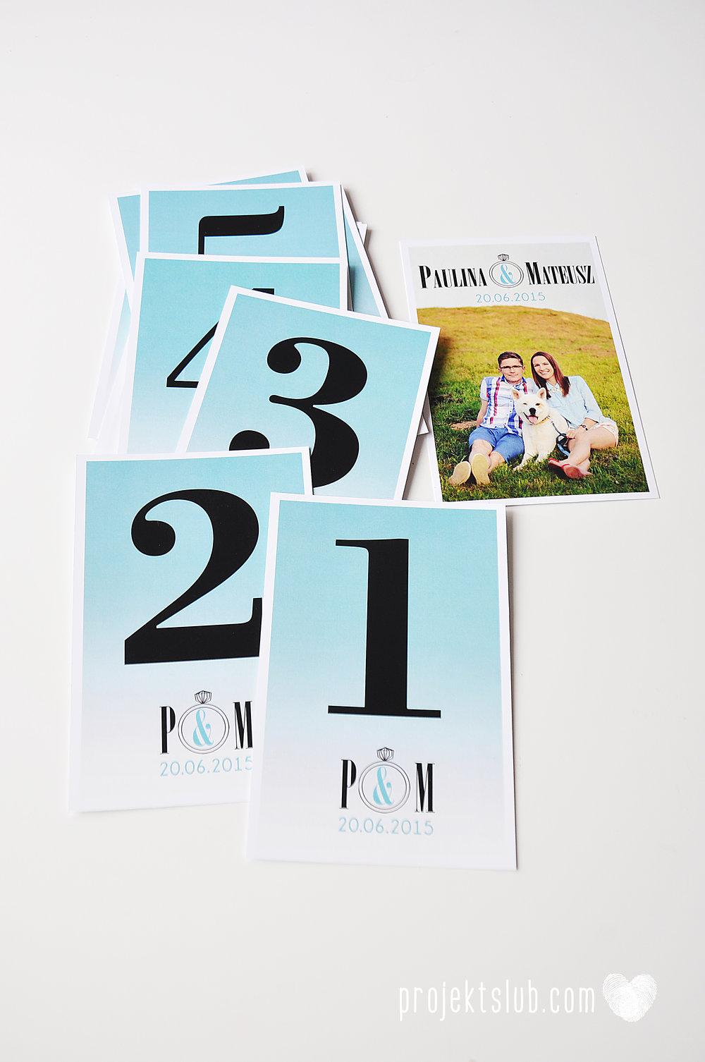 eleganckie zaproszenie ślubne śniadanie u Tiffany'ego 4 błękit biel glamour ombre cieniowane ze zdjęciem graficzne Projekt Ślub (14).jpg