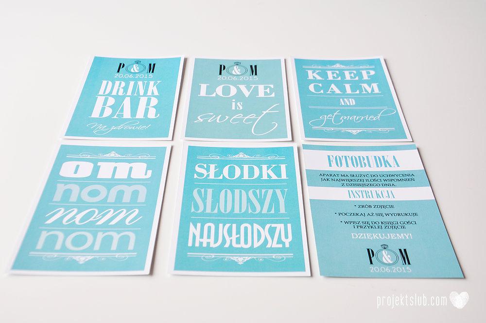 eleganckie zaproszenie ślubne śniadanie u Tiffany'ego 4 błękit biel glamour ombre cieniowane ze zdjęciem graficzne Projekt Ślub (13).jpg