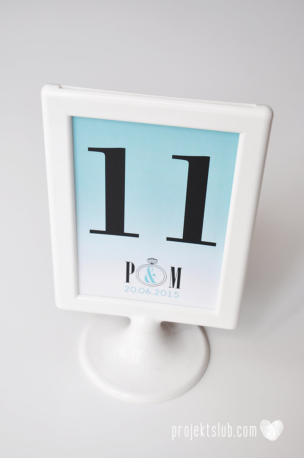 eleganckie zaproszenie ślubne śniadanie u Tiffany'ego 4 błękit biel glamour ombre cieniowane ze zdjęciem graficzne Projekt Ślub (15).jpg