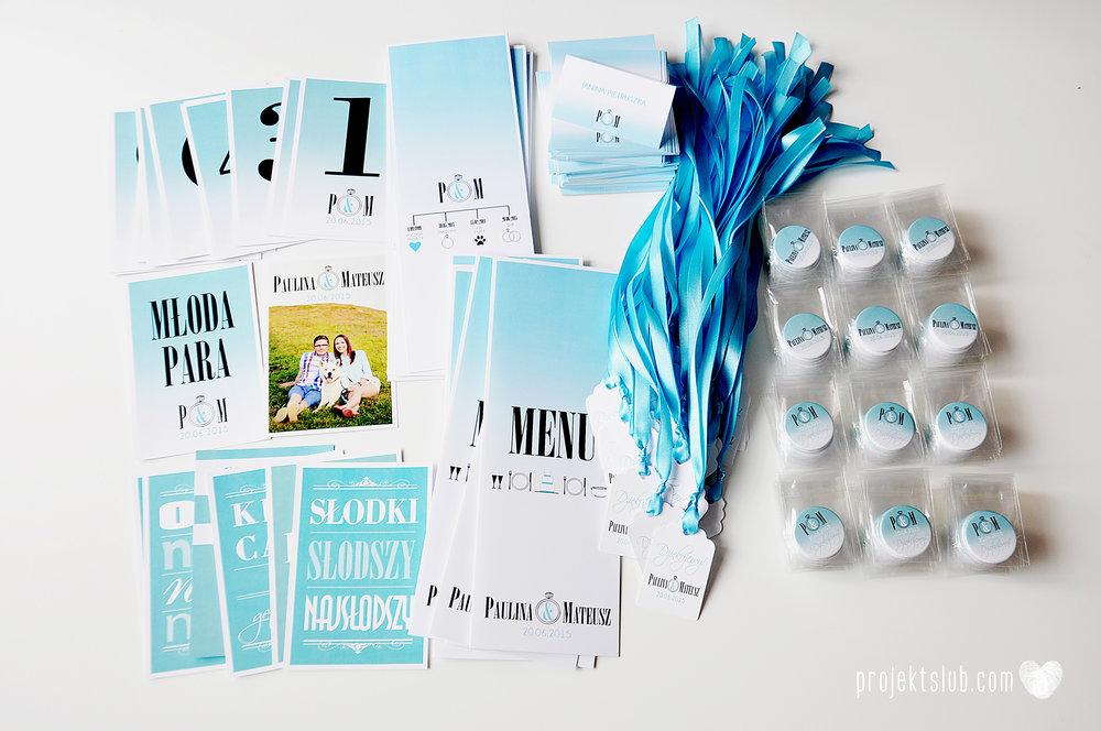 eleganckie zaproszenie ślubne śniadanie u Tiffany'ego 4 błękit biel glamour ombre cieniowane ze zdjęciem graficzne Projekt Ślub (16).jpg