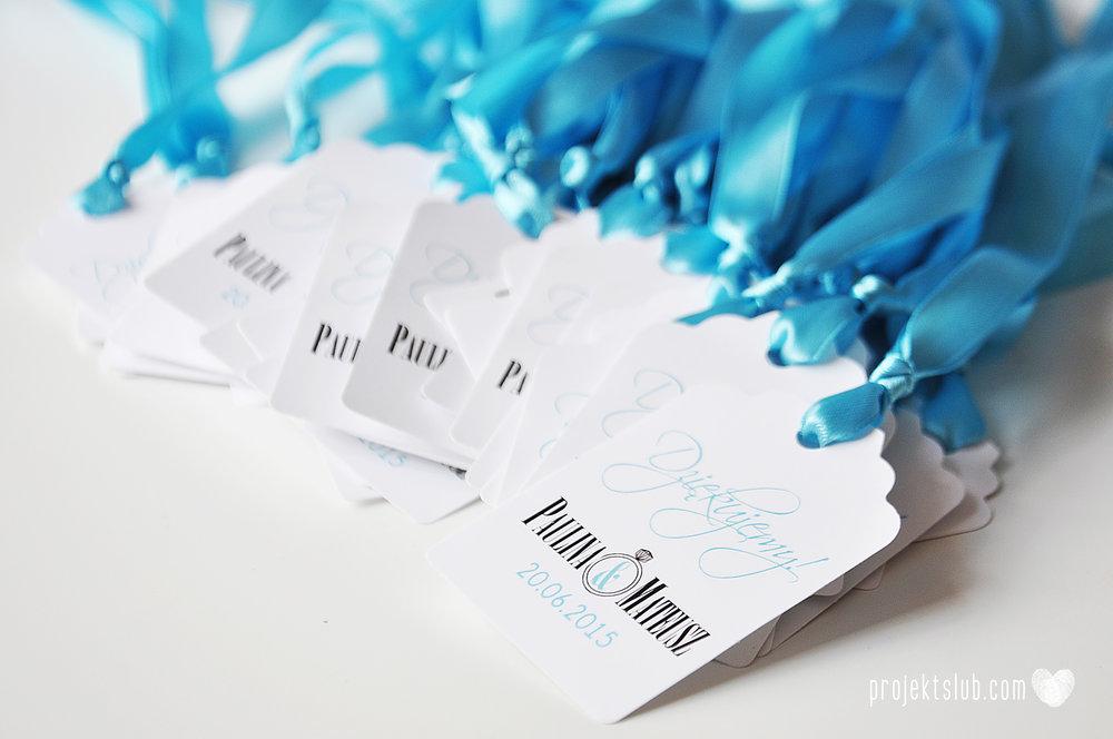 eleganckie zaproszenie ślubne śniadanie u Tiffany'ego 4 błękit biel glamour ombre cieniowane ze zdjęciem graficzne Projekt Ślub (21).jpg