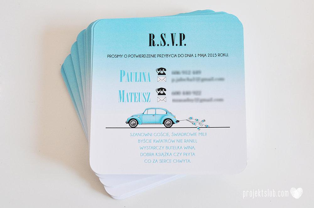 eleganckie zaproszenie ślubne śniadanie u Tiffany'ego 4 błękit biel glamour ombre cieniowane ze zdjęciem graficzne Projekt Ślub (4).jpg