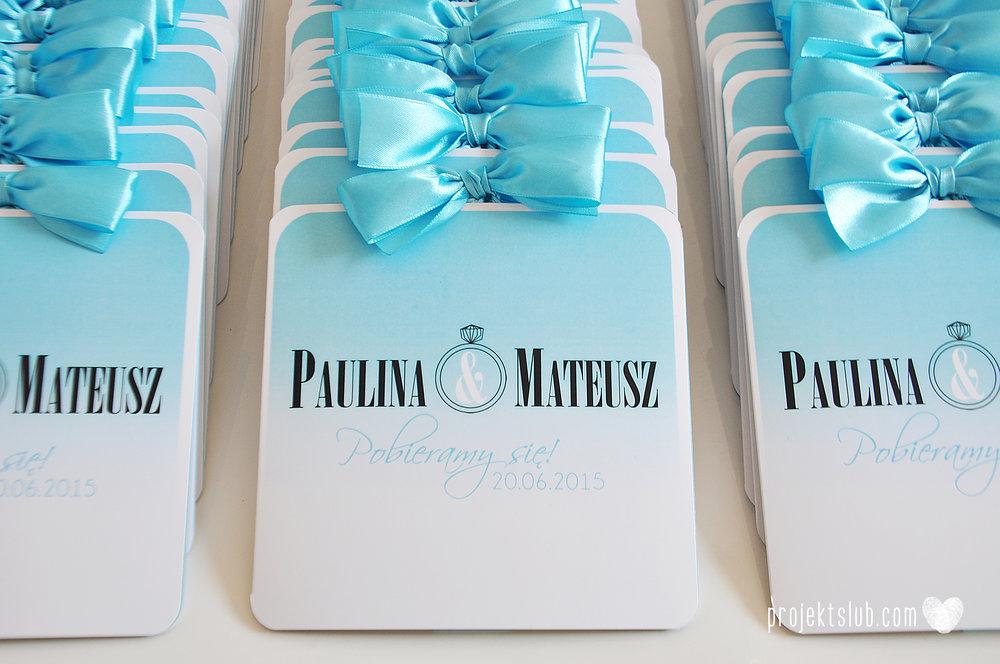 eleganckie zaproszenie ślubne śniadanie u Tiffany'ego 4 błękit biel glamour ombre cieniowane ze zdjęciem graficzne Projekt Ślub (5).jpg