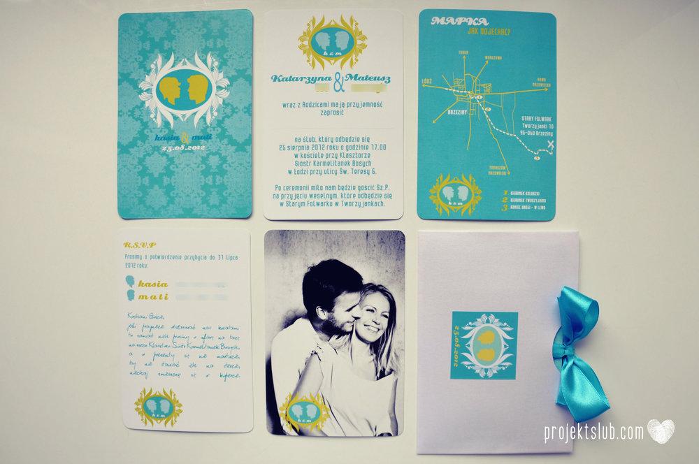 zaproszenia ślubne i dodatki weselne turkus kamea piękna elegancka oryginalna papeteria projekt ślub (23).jpg