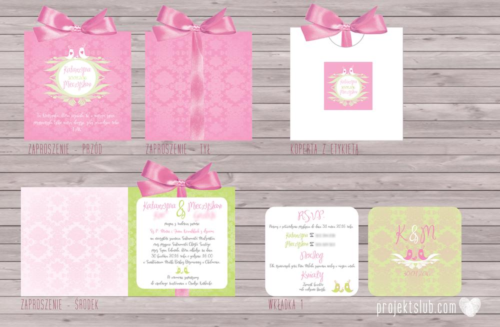 zaproszenia-ślubne-eleganckie-glamour-ptaszki-zaproszenia-dla-par-z-dzieckiem-różowy-róż-zielony-zaproszenia-projekt-ślub  (1).png