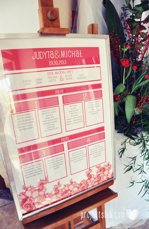 oryginalne zaproszenia i dodatki ślubne w odcieniach czerwieni bieli koralu i różu fraktale miłość serce Fraktalove Projekt Ślub (19).jpg