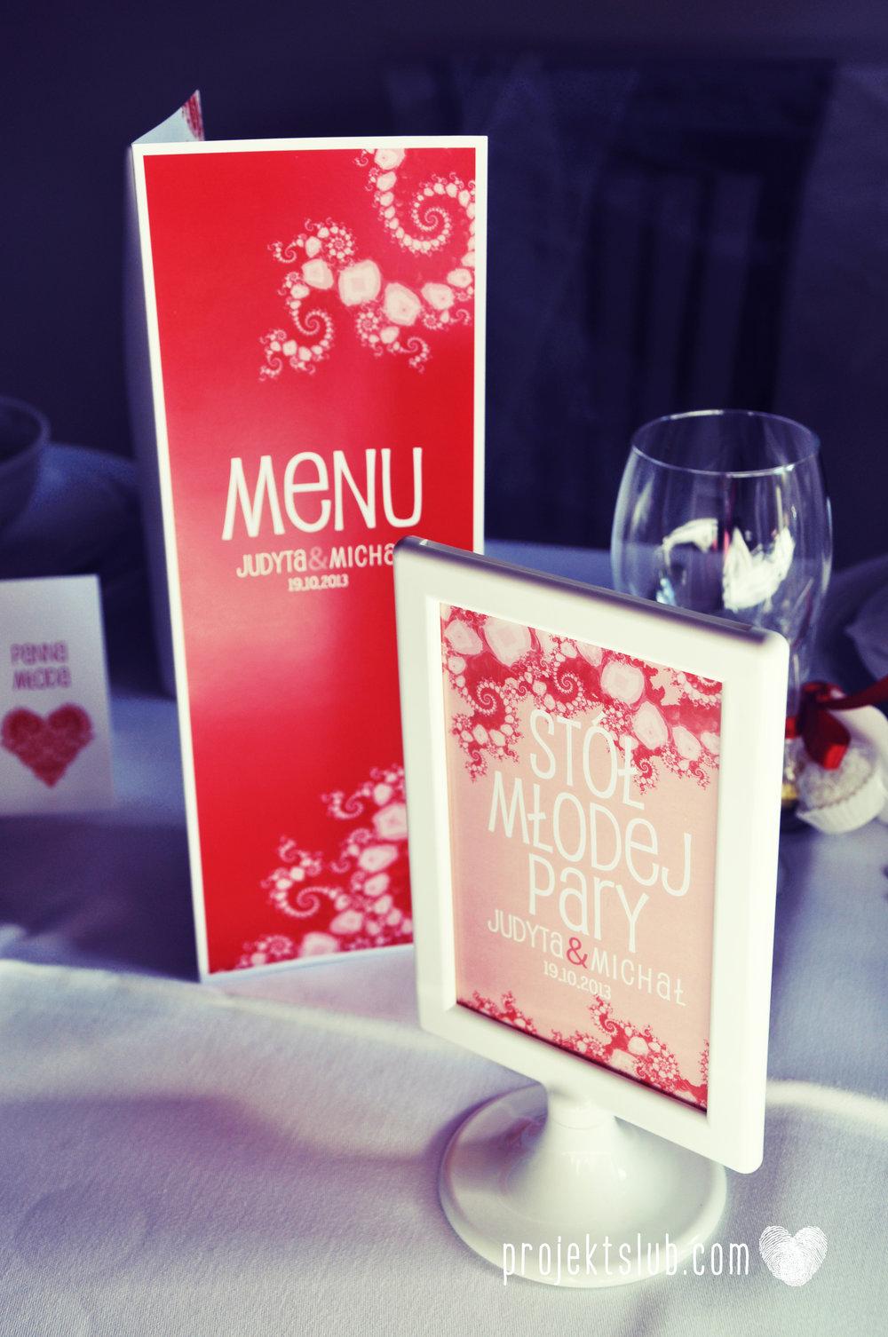 oryginalne zaproszenia i dodatki ślubne w odcieniach czerwieni bieli koralu i różu fraktale miłość serce Fraktalove Projekt Ślub (25).jpg