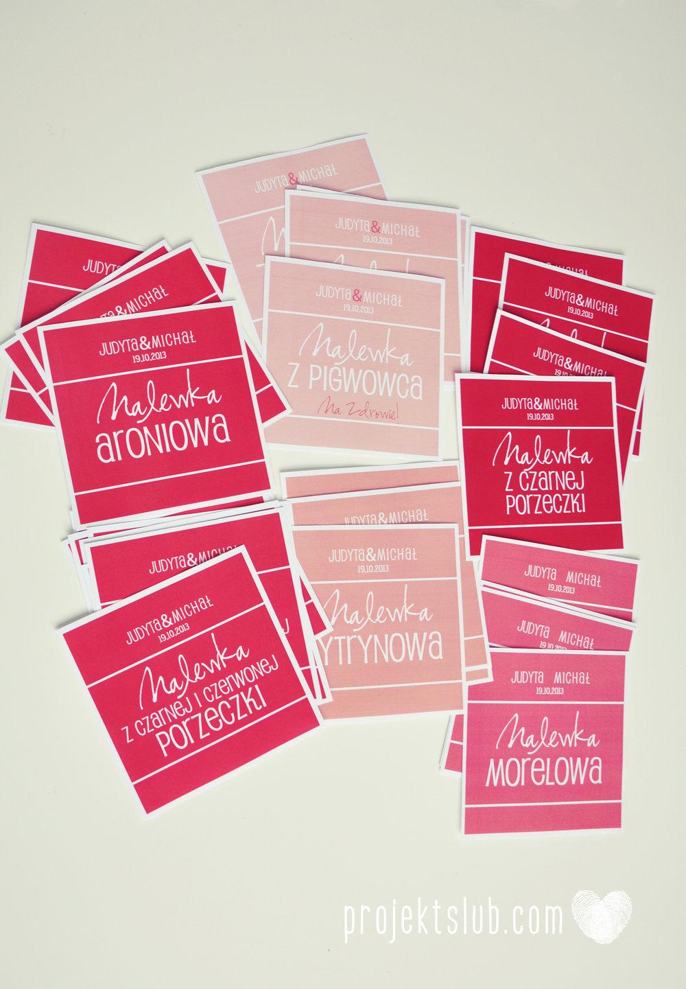 oryginalne zaproszenia i dodatki ślubne w odcieniach czerwieni bieli koralu i różu fraktale miłość serce Fraktalove Projekt Ślub (2).jpg